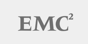 Black and White logo of EMC