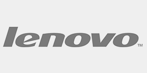Black and White logo of lenovo