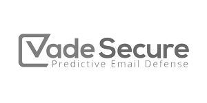 Black and White logo of Vade Secure